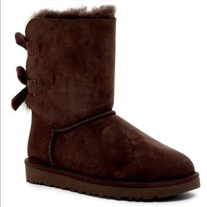 bailey bow corduroy UGG Boots in chocolate